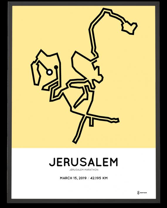 2019 Jerusalem marathon course print