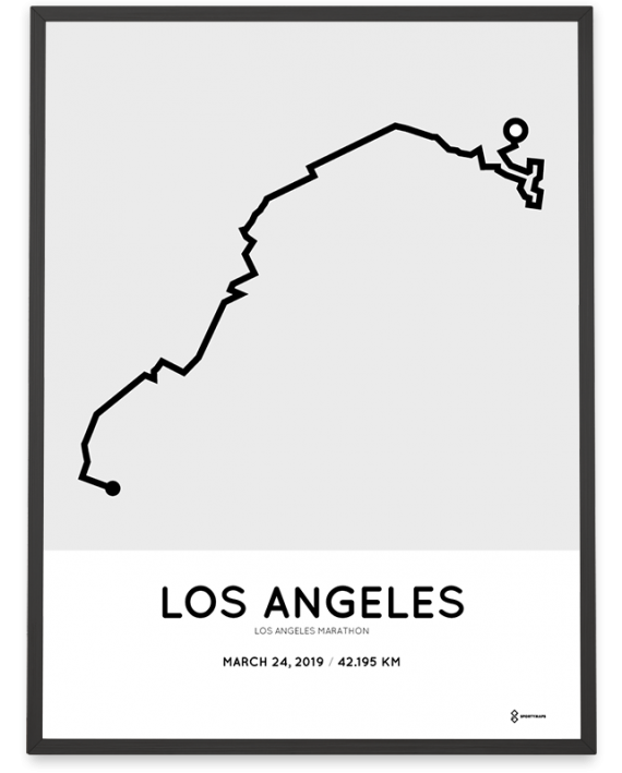 2019 Los Angeles marathoner map