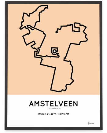 2019 Lentemarathon marathon routemap print