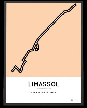2019 Limassol marathon course poster