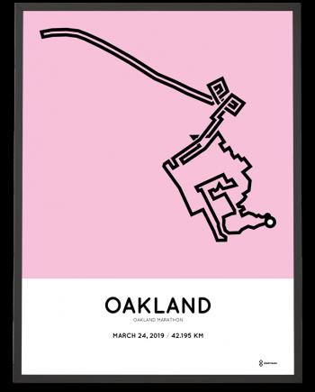 2019 Oakland marathon routemap sportymaps print
