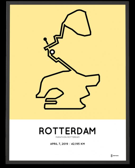 2019 marathon Rotterdam parcours poster