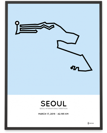 2019 Seoul International marathon course print