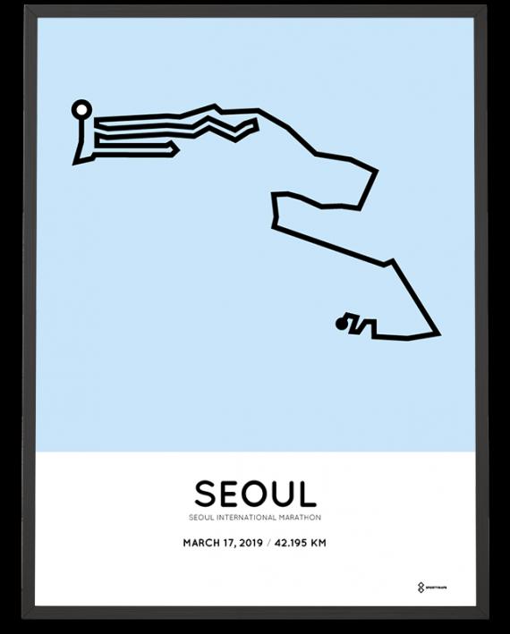 2019 Seoul International marathon course print