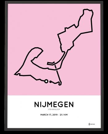 2019 Stevensloop halve marathon route poster