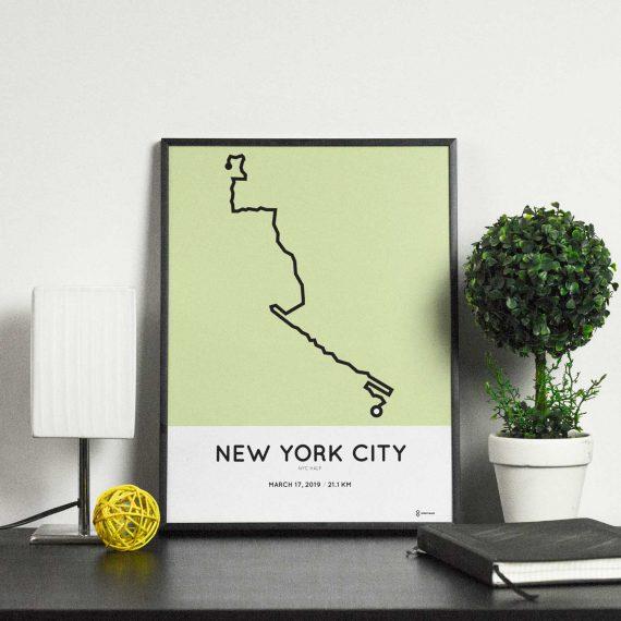 2019 NYC half marathonermap