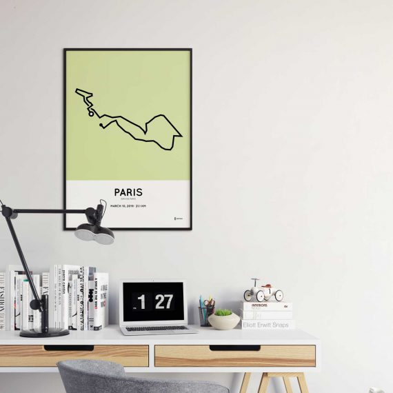 2019 Paris half marathon course poster