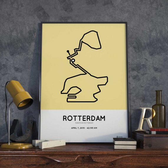 2019 Rotterdam marathon parcours poster