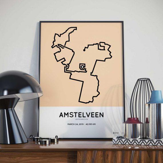 2019 Amstelveenz lentemarathon route print