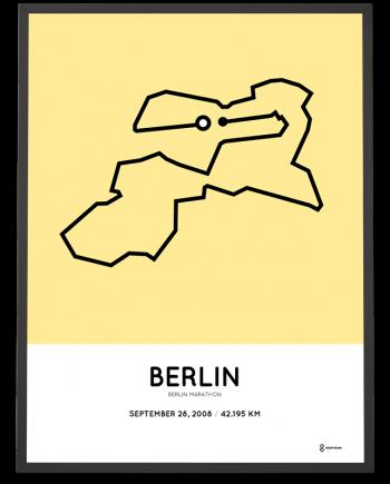 2008 Berlin marathon coursemap poster