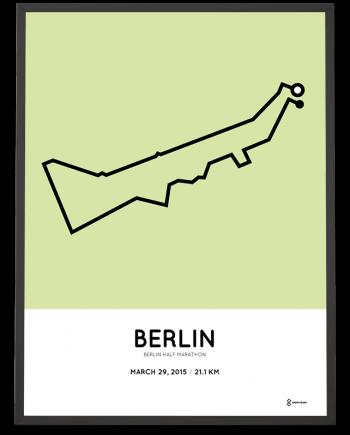2015 Berlin half marathon strecke poster