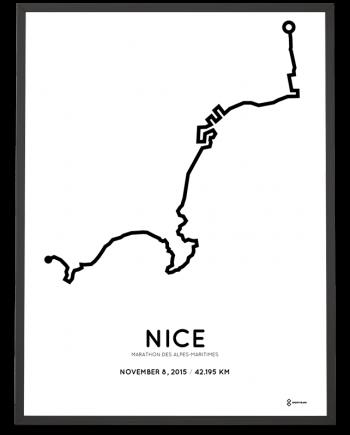 2015 marathon des alpes-maritimes parcours poster