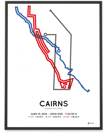 2018 Ironman 70.3 Cairns course poster