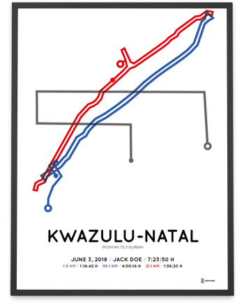 2018 Ironman 70.3 Durban course poster