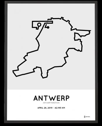 2019 Antwerp marathon parcours poster