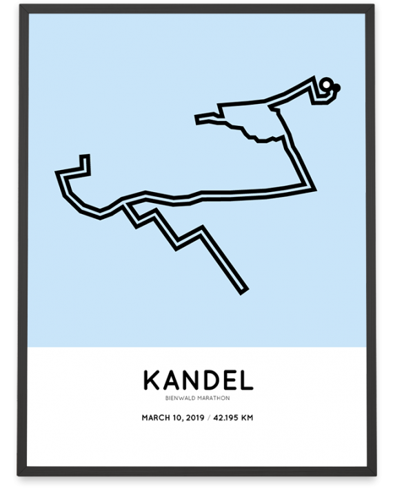2019 Bienwald marathon marathonermap print