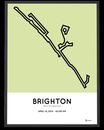 2019 Brighton marathon sportymaps course poster
