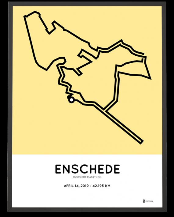 2019 Enschede marathon parcours poster