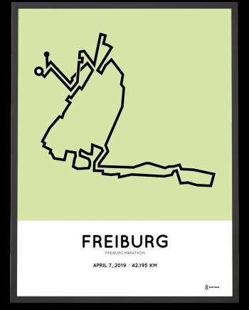2019 Freiburg marathon strecke poster
