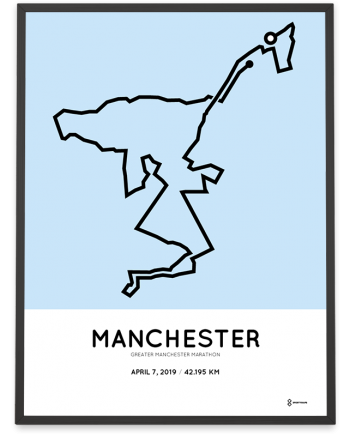 2019 Greater manchester marathon course poster
