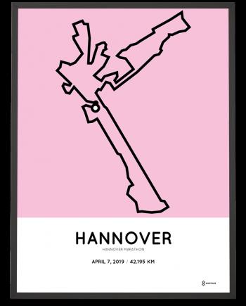 2019 Hannover marathon course poster