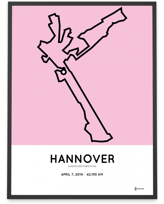 2019 Hannover marathon course poster
