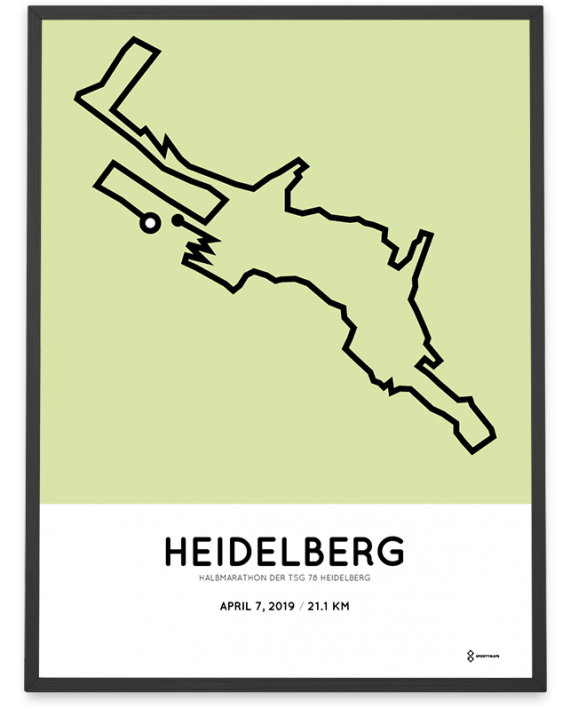2019 Heidelberg halbmarathon strecke poster