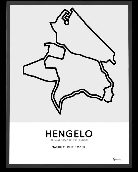 2019 Hengelo halve marathon route poster