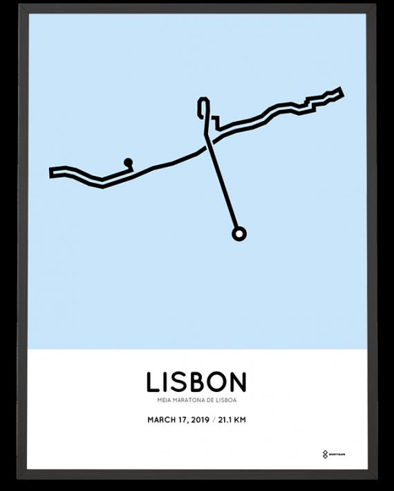 2019 Meia maratona de Lisboa course poster