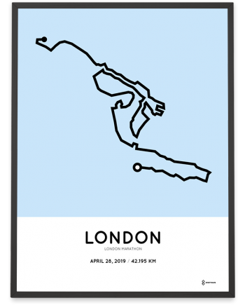 2019 London marathon course poster
