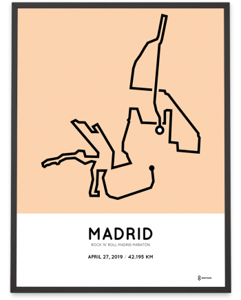 2019 Madrid marathon course poster