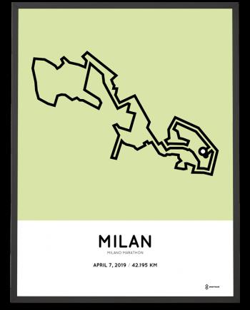 2019 Milano marathon course poster
