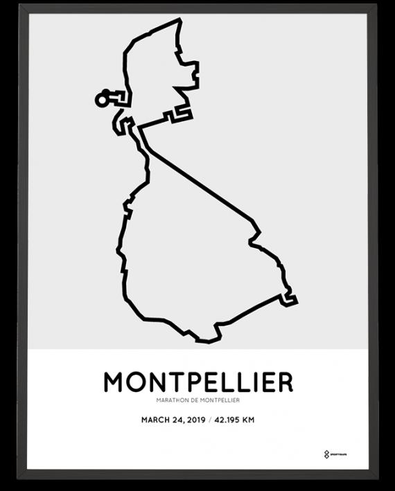 2019 Montpellier marathon course poster