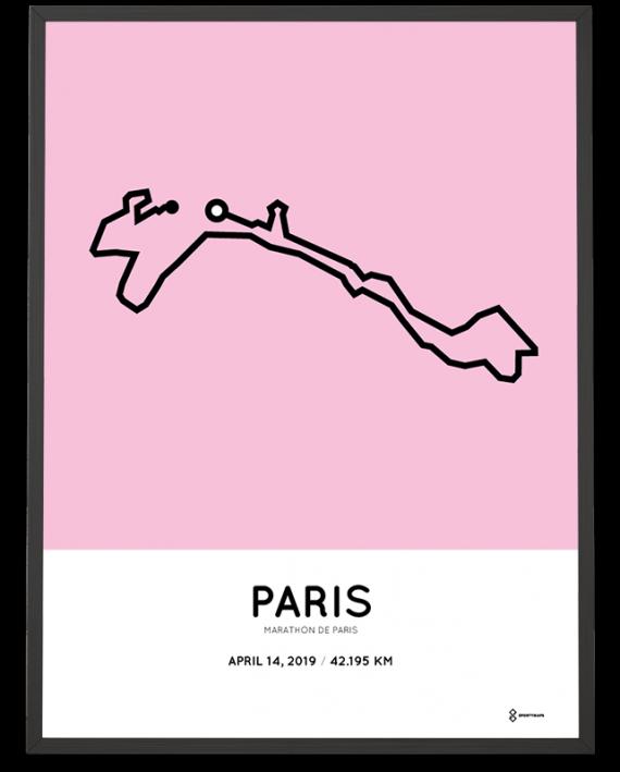2019 marathon de Paris parcours route print