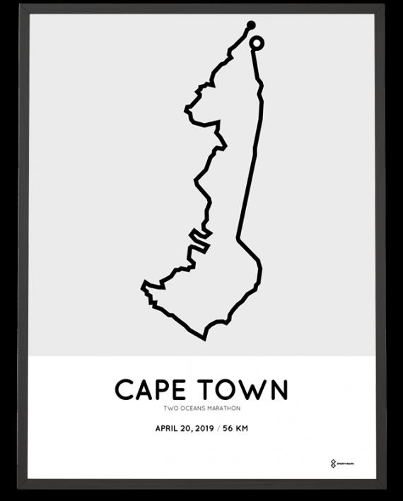 2019 Two Oceans marathon course poster