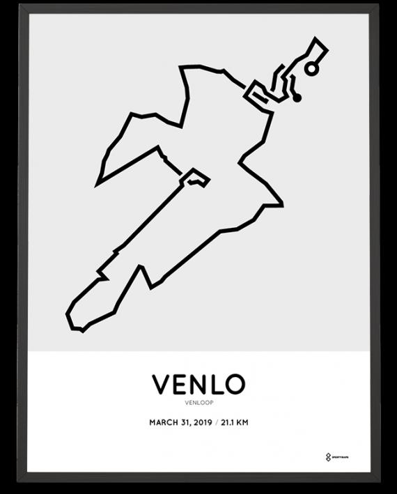 2019 Venloop sportymaps route poster