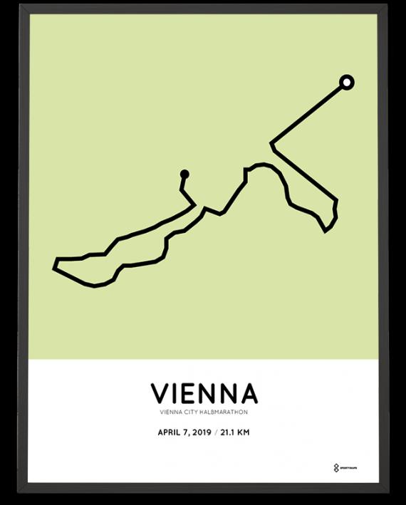 2019 Vienna City half marathon course poster