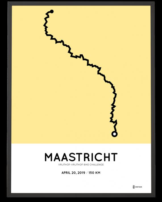 2019 Vrijthof-Vrijthof bike challenge route poster