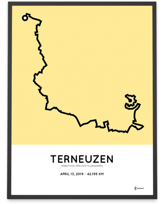 2019 Marathon Zeeuws-Vlaanderen parcours sportymaps poster