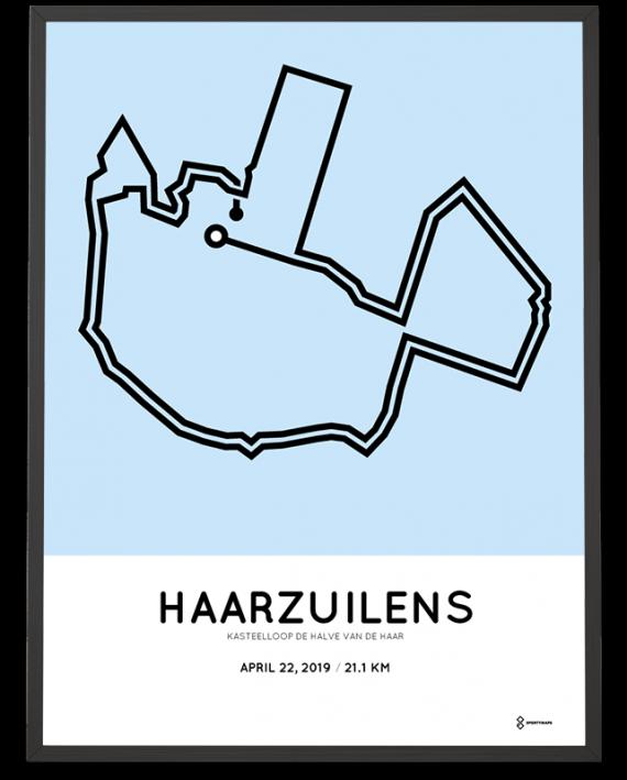 2019 halve van de haar route poster