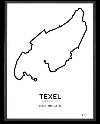 2019 Zestig van Texel parcous sportymaps poster