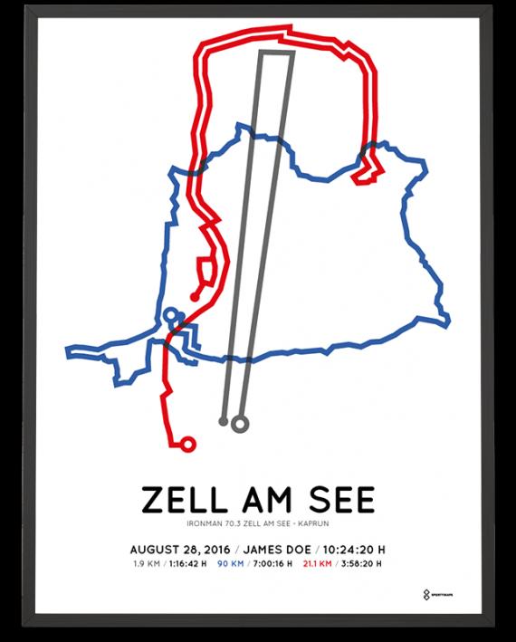 2016 Ironman 70.3 Zell am See routemap poster