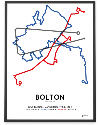 2016 Ironman Bolton sportymaps course poster