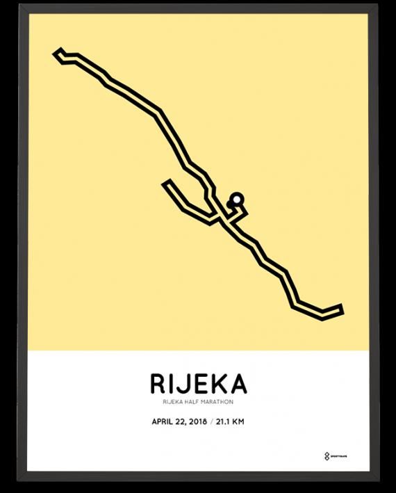 2018 Rijeka half marathon course poster