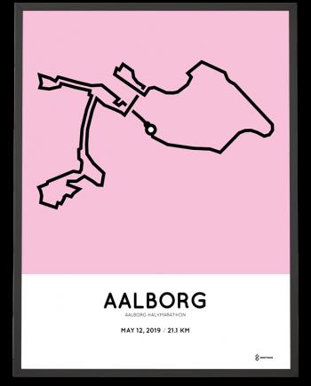 2019 Aalborg halvmarathon sportymaps course poster
