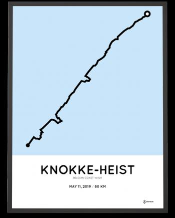 2019 Belgian Coast Walk 80 km route poster