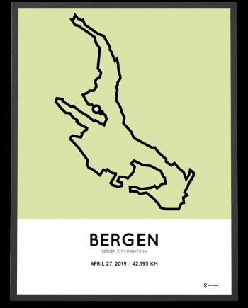 2019 Bergen City marathon parcours poster
