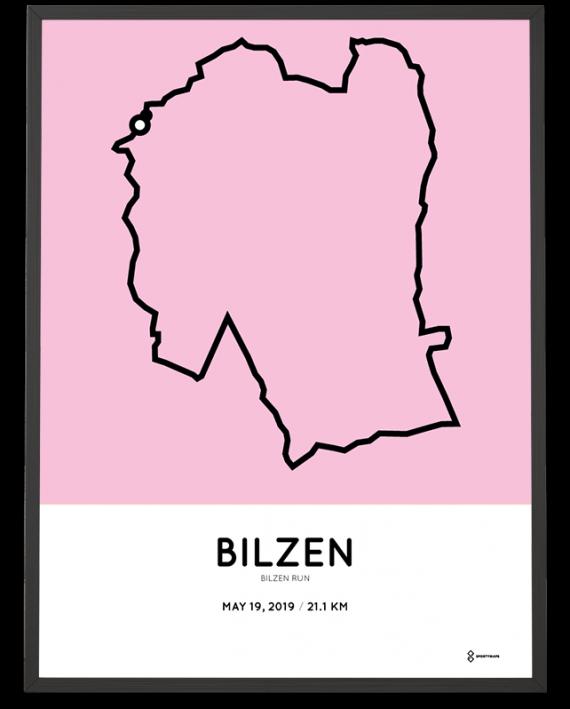 2019 Bilzen Run half marathon parcours poster