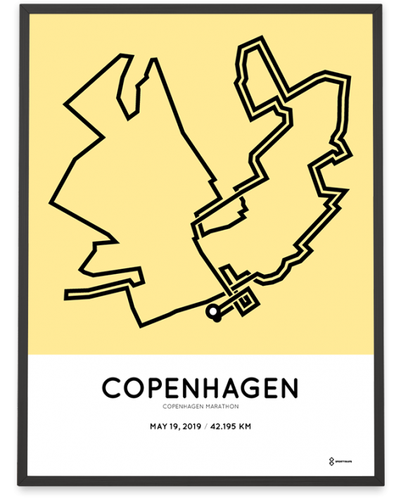 2019-Copenhagen marathon course print