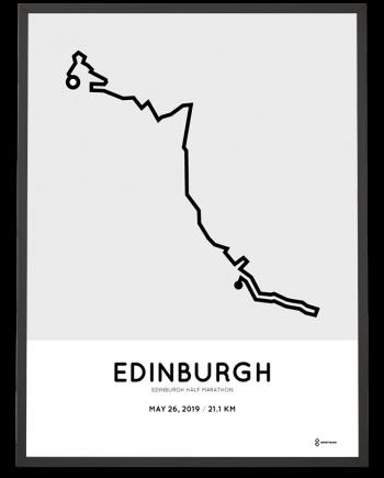 2019 Edinburgh half marathon routemap print